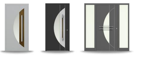 Aluminium-Hautür-Serie Agave