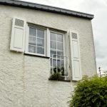 Tür-Fensterkombination mit Fensterladen